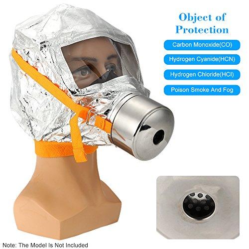 KKmoon Máscara de Gas Incendio Fire Mask Escape Emergencia Máscara de Oxígeno...