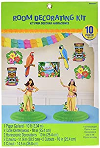 Kit de decoración hawaiano para habitación Amscan International 241659