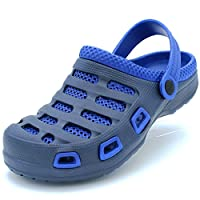 Sport Men's Two Tone Ventilated Navy/Blue Garden Clogs 8 D(M) US