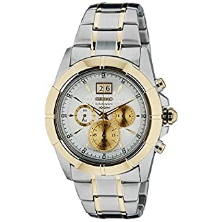 Seiko Lord Chronograph White Dial Men's Watch-SPC110P1