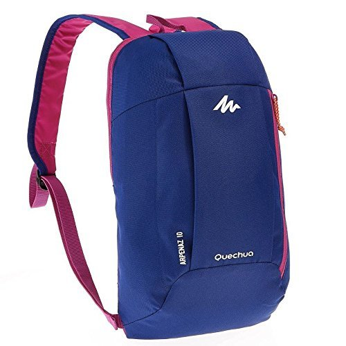 Quechua Lightweight 10 Litres Blue and Purple Hiking Backpack  available at amazon for Rs.349