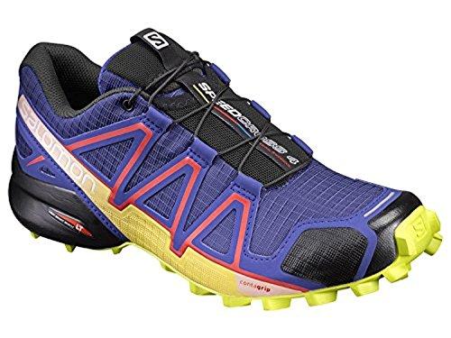 Salomon Femme Speedcross 4, Black/Black/Black Metallic, Synthétique/Textile, Chaussures de Course à Pied et Randonnée, Taille 42.6 spectrum blue-sulphur spring-fiery red (392422)