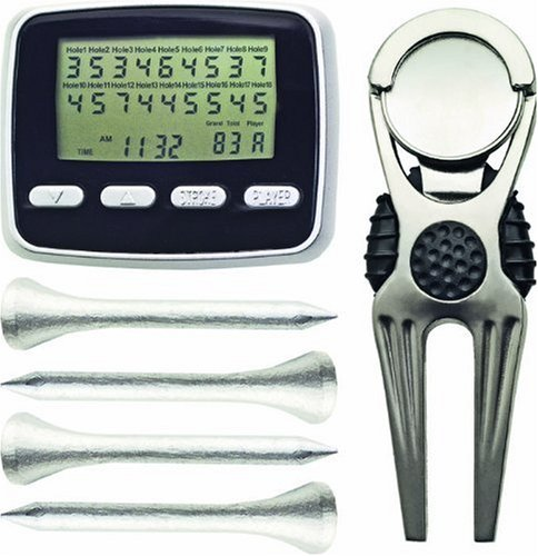 Longridge GOLF EQUIPMENT SCORER,FORK & TEES SET, SILVER Preisvergleich