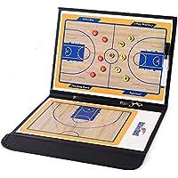 95street Carpeta Táctica para Entrenamiento de Baloncesto Pizarra Táctica Coach Board con imanes lápices Goma de borrar (Tamaño: 53cm x 31cm)
