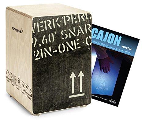 Schlagwerk CP403 Cajon2inOne Black Edition Medium Set inkl. Cajonschule