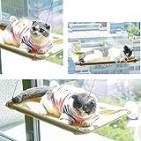 Tumbona con 3 Grandes ventosas para reposar Gatos Gatos Ventanas sof/á Seguro para el Sol con Capacidad para hasta 40 Libras Cama de Ventana para Gatos Perchas Gatos KOBWA