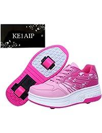 KE Los niños unisex de ruedas Auto-párrafo Zapatos Zapatos Polea Patines Deportes