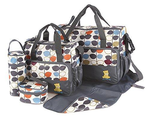 Main bag size: 41 x 18 x 33cm Small bag size: 33 x 10 x 27cm Food bag size: 13 x 12 x 7cm Bottle holder size: 25 x 10cm Changing mat size: 40 x 60cm