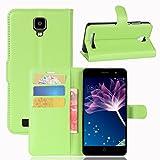 Coque pour Doogee X10, Frlife | Housse en Cuir PU pour Doogee X10 Coque avec Étui en Silicone, Protection Complète pour Votre Téléphone Portable (5 Pouces) Vert