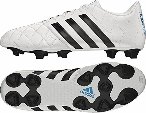 Adidas - Adidas 11 Questra FG Scarpe da calcio in pelle da uomo in pelle bianco B34123, Uomo, Adidas 11questra Leather Football Boots, White/Black, UK8.5 /42 2/3 F