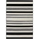 Vallila Futura textura Alfombra, chenilla, negro, 140x 200cm