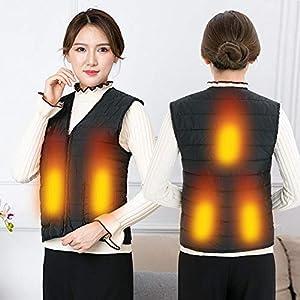 KEIBODETRD Heizung Elektrische Weste USB Aufladung Erhitzt Waschbar Kältebeständige Jacke Weste für Männer Frauen