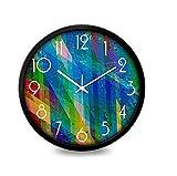 WallClocks UK creative colorful quiet metal retro alarm clock living room kitchen restaurant bedroom 12 inches (30.5 cm)/14 inches (35.5 cm), 35cm