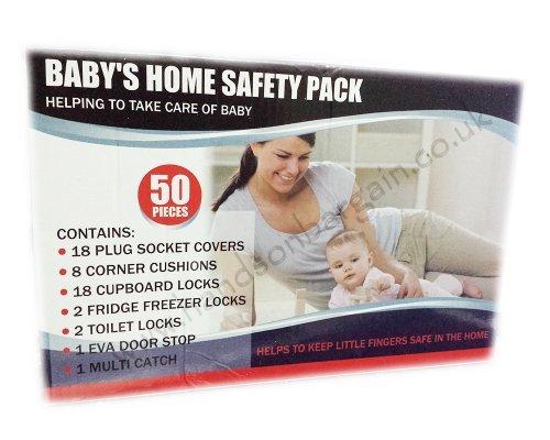 Neu Baby Erste 50 stk. Startseite-sicherheit Starter Sicherung Schutz Kinder Set Satz Türschloss Ecken By ZONNIX UK LTD