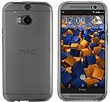 mumbi Schutzhülle für HTC One M8 / M8s Hülle transparent schwarz
