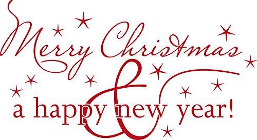 GRAZDesign Fensteraufkleber Weihnachten - Weihnachtsdeko Wandtattoo Silvester - Türaufkleber Winter - Wandtattoo Sterne / 73x40cm / 031 rot / 830018_40_031