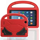 FUQUN Kids Case for Fire 7 2017 - All-New Light Weight EVA Shock Proof Handle Friendly Convertible Stand Kids Case for Amazon Kindle Fire 7 inch Display Tablet (2017 Release) red