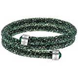 Swarovski Damen-Armreif Crystaldust Bracelet Edelstahl Kristall grün Rundschliff - 5255901