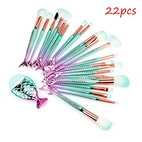 3D Meerjungfrau Pinselsets 22pcs SOMESUN Makeup Professionelle Makeup Pinsel Meerjungfrau Make-up...