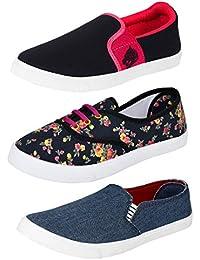 Earton Women's Canvas Shoes Combo