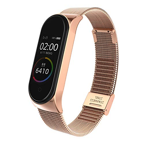 BDIG Correa Compatible Xiaomi Mi Band 4 Correas Metal,Pulsera