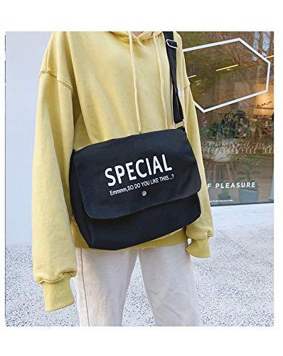 he Tasche weibliche umhängetasche Student Tasche weibliche einzelne Schulter Brief Tasche Tasche stofftasche ()