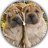 Shar Pei reloj de pared 25,4 cm se color y para pared W262