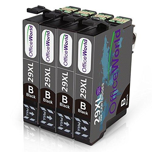 OfficeWorld Ersatz für Epson 29 29XL Schwarze Druckerpatronen Hohe Kapazität Kompatibel mit Epson Expression Home XP-342 XP-345 XP-245 XP-442 XP-445 XP-247 XP-332 XP-235 XP-435 XP-432 XP-335