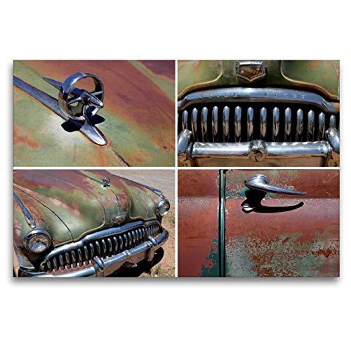 Premium Textil-Leinwand 120 x 80 cm Quer-Format Buick Eight, Bj.1949, Bluff, Utah, USA | Wandbild, HD-Bild auf Keilrahmen, Fertigbild auf hochwertigem Vlies, Leinwanddruck von Rainer Grosskopf