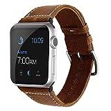 Echtleder Armband für Apple Watch 44/42mm iWatch Uhrenband [Vintage] Ersatzarmband für Series 4,...