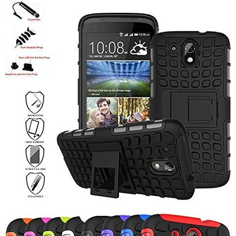 HTC Desire 526G+ Custodia, Mama Mouth Duro Shock Proof copertura