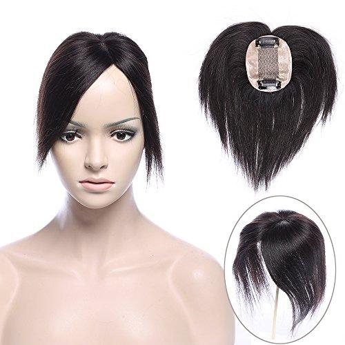 Hair topper da donna parrucca #1b nero naturale - 14