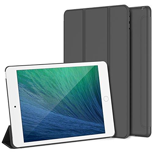 iPad Mini 4 Hülle, JETech Ultra Slim iPad Mini 4 Hülle Schutzhülle Etui Tasche mit Eingebautem Magnet für Einschlaf/Aufwach für Apple New iPad Mini 4 Veröffentlicht am 2015 Smart Case Cover (Dunkel Grau)