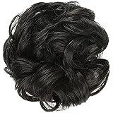 Chignon, capelli sintetici, elastici, ricci, elastici per capelli, per capelli e coda di cavallo