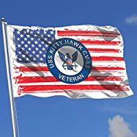 AGnight US Navy USS Kitty Hawk CV-63 Ship Veteran Flags 3x5 Foot Banner 3X5 Ft Polyester Banner Flags