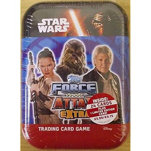 Disney Star Wars Fuerza Attax Extra La Fuerza Despierta Bolsillo Mini Tarjetas De Comercio Del Estaño (UK