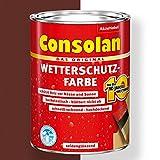 Consolan Wetterschutz-Farbe (750 ml, braun)