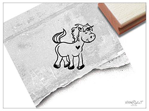 Stempel - Kinderstempel Einhorn Mittel - Bildstempel Motivstempel Geschenk für Kinder - Schule Kita Einschulung Malvorlage Basteln Deko - zAcheR-fineT