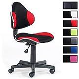 IDIMEX Kinderdrehstuhl Schreibtischstuhl Drehstuhl Alondra, Schwarz/Rot