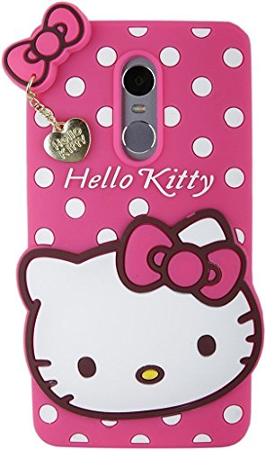 Qzey Nice Kitty Case Cover For Xiamoi Redmi Note 4 - Pink