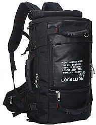 ZQ 50 L Paquetes de Mochilas de Camping / Organizador de Viaje Deportes de ocio Al Aire LibreImpermeable / Secado Rápido / Listo para vestir , black