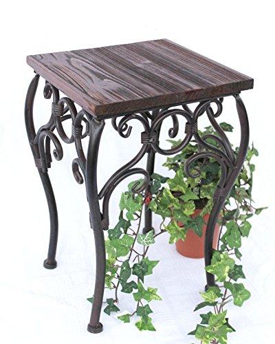 DanDiBo Blumenhocker HX12593 Blumenständer 34 cm Eckig Blumensäule Tisch Beistelltisch