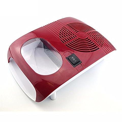Séchoir à ongles Nail Chaud et froid Fan Usage double Air Séchoir Ventilateur Outil de beauté de manucure pour sécher le vernis à ongles rouge