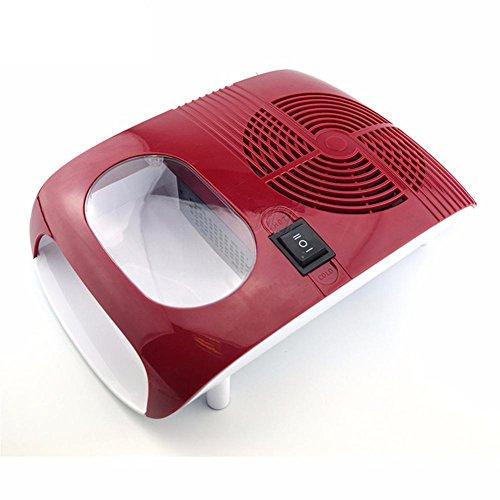 Nageltrockner Heißer und kalter Fan Dual Use Luft Trockner Gebläse Maniküre Schönheit Werkzeug zum Trocknen von Nagellack Rot
