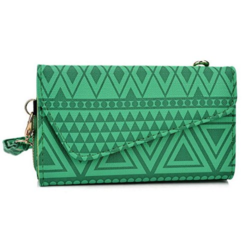 Kroo Pochette/étui style tribal urbain pour Xolo A1010/8 x -1020 Multicolore - White with Mint Blue Multicolore - vert