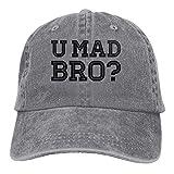 Hoswee Unisex Kappe/Baseballkappe, Like A Cool You MAD Story Bro Moustache Cowboy Hat Rear Cap Adjustable Cap