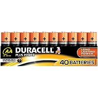 Duracell Plus Power Alcalino 1.5V batería no-recargable - Pilas (Alcalino, Cilíndrico, 1,5 V, 40 pieza(s), AA)