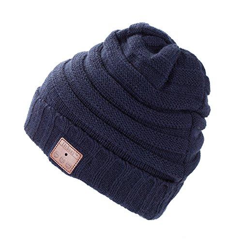 Strickmütze Mütze, Winter Mütze Beanie, Wärmer Häkelarbeithut Angenehm Weich Beanie Ski Hüte Mützen Unisex - By Lisbest™ (JR-Blau002)