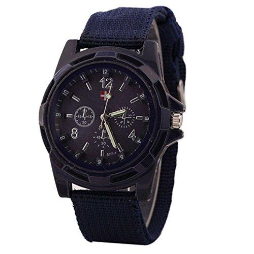 Orologi - feixiang classic orologi orologio da polso orologi al quarzo cinturino in acciaio - armato esercito quadrante verde esercito sport orologio da polso stile quarzo (blu marino)