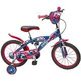 """Toimsa - 876 - Vélo pour Enfant - Spiderman - Garçon - 16"""" - 5 à 8 ans"""